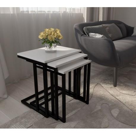 میز عسلی ۳ تیکه مدل