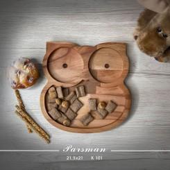 ظرف چوبی کودک طرح جغد