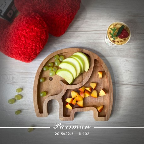 ظرف چوبی کودک طرح فیل