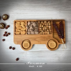 ظرف چوبی کودک طرح اتوبوس
